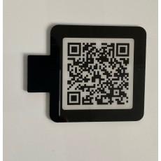 QR code à  fixer sur le porte-affiche format 4 x 4 cm