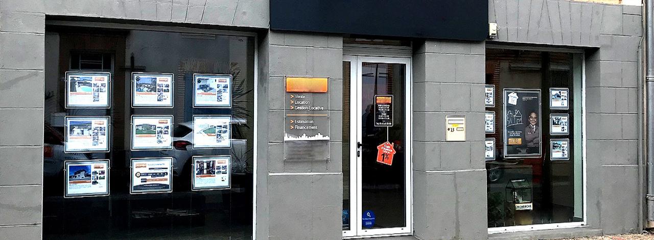 Porte-affiches LED vitrine